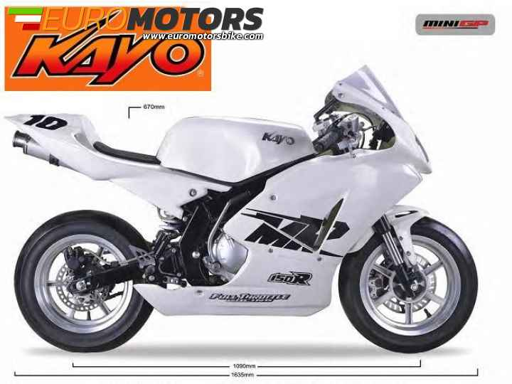 MINIGP 150 KAYO - minimoto racing 155cc 4 tempi motard mini gp
