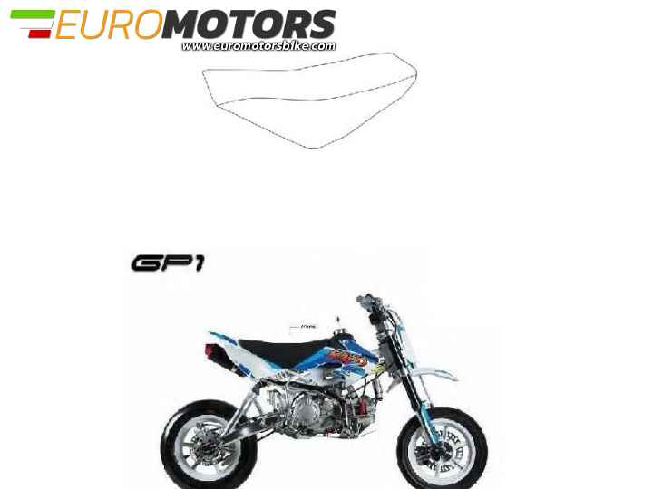 SELLA IN PELLE GP1 SUPERMOTO KAYO PIT BIKE MOTARD